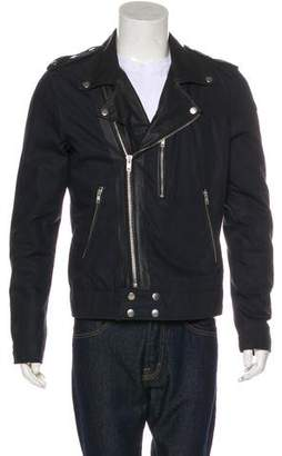 BLK DNM Leather-Trimmed Moto Jacket