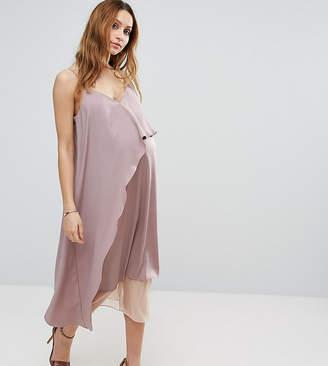 Asos Cami Midi Dress with Mesh Insert