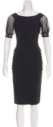 Chiara Boni Short Sleeve Knee-Length Dress