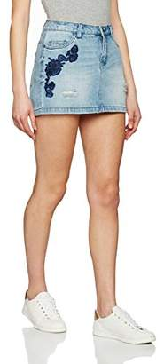 Only Women's Onltonni Emb Short DNM Bj Skirt,(Manufacturer Size: 28)
