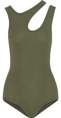 Alix Cutout Ribbed Stretch-Modal Bodysuit