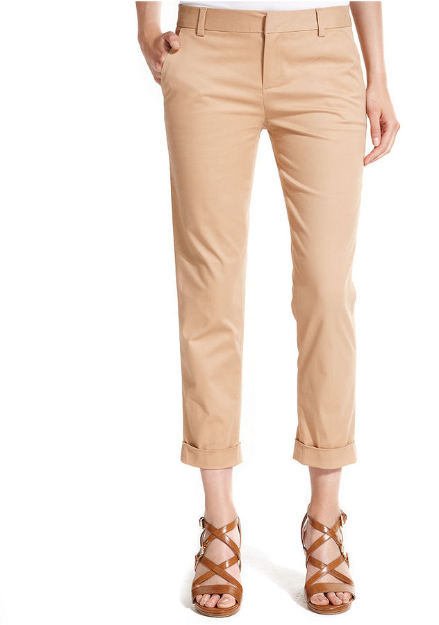 Tommy Hilfiger Straight-Leg Cuffed Cropped Pants
