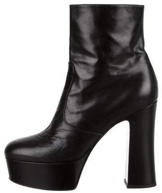 Saint Laurent Billy Leather Platform Boots