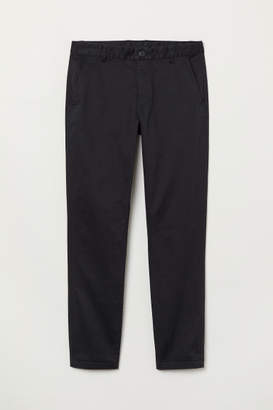 H&M Tapered Fit Chinos - Black