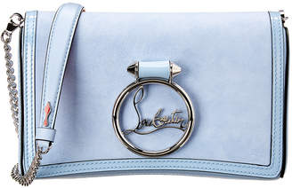 Christian Louboutin Rubylou Leather & Suede Shoulder Bag