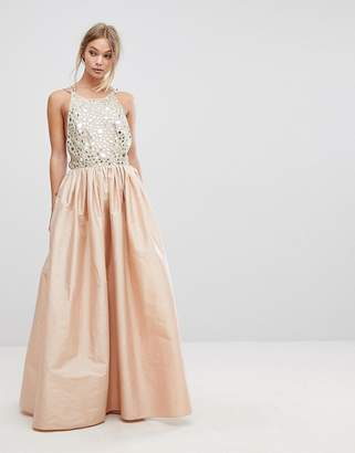 French Connection Embellished Maxi Dress