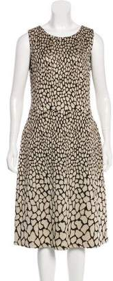 St. John Sleeveless Patterned Dress