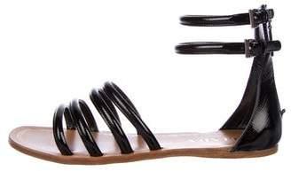 Prada Patent Leather Gladiator Sandals