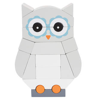 Manhattan Toy Luna The Owl Magnetic Wooden Stacking Block Puzzle