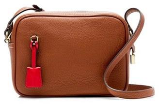 J.crew 'Signet' Leather Crossbody Bag - Brown $128 thestylecure.com