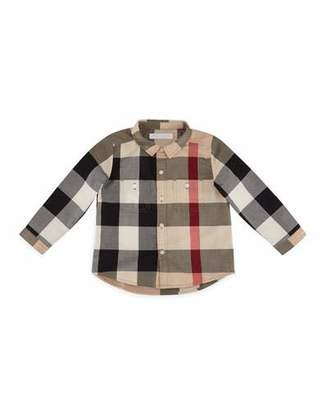 Burberry Mini Camber Check Shirt, Classic, Size 6M-3 $120 thestylecure.com