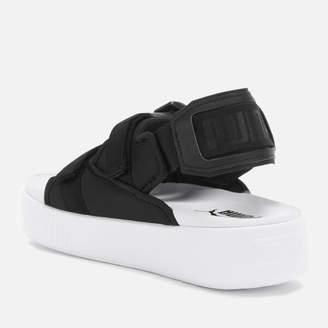 Puma Women's Platform Slide Ylm 19 Sandals Black White