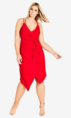 City Chic Red So Seductive Dress