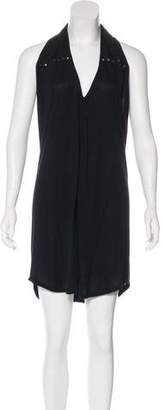 Haute Hippie Halter Knee-Length Dress