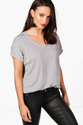 boohoo Tall Oversized V Neck Basic Tee