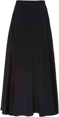 ADAM by Adam Lippes A-Line Satin Midi Skirt