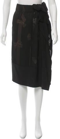 Stella McCartneyStella McCartney Silk Midi Skirt