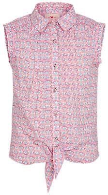 Fat Face Girls' Geometric Fairground Blouse, Pink