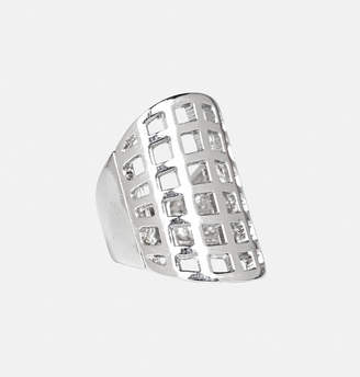 Avenue Silver Cage Ring