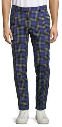 Burberry Men's Soho Tartan Plaid Straight-Leg Pants