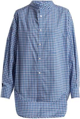 Balenciaga Oversized check-cotton shirt