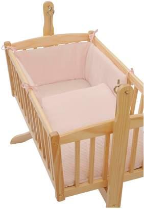 Clair De Lune Waffle Crib Set Quilt & Bumper