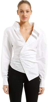 Jacquemus Asymmetric Cotton Poplin Shirt