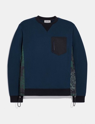 Coach Nylon Sweatshirt With Kaffe Fassett Print