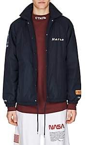 Heron Preston Men's Tech-Fabric Coach's Jacket - Dk. Blue
