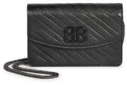 Balenciaga Leather Logo Wallet On Chain