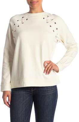 Velvet Heart Bayou Lace-Up Sweatshirt