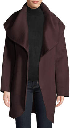 T Tahari Oversized Shawl Collar Wool-Wrap Coat