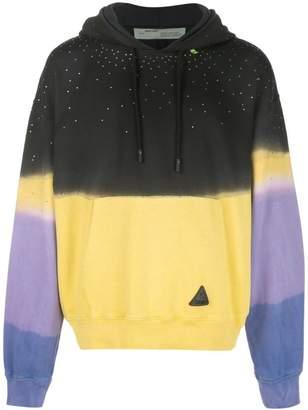 Off-White ombré effect hoodie