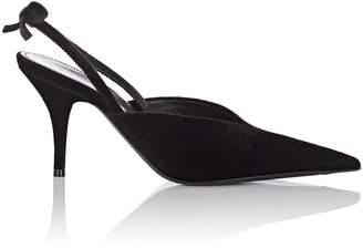 Balenciaga Women's Bow-Embellished Velvet Slingback Pumps
