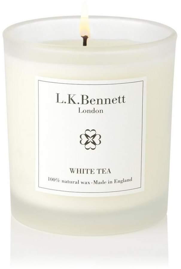 White Tea White Glass Candle