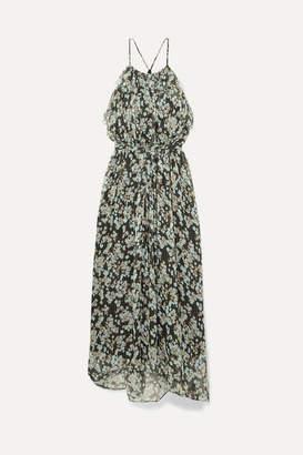 Jason Wu Ruffled Floral-print Silk-georgette Maxi Dress - Green