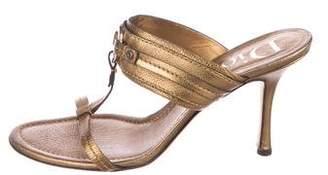 Christian Dior Leather Logo Sandals