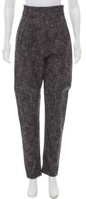 Zero Maria Cornejo Tweed High-Rise Pants