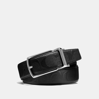 COACH Coach Modern Harness Cut-To-Size Reversible Signature Crossgrain Leather Belt $150 thestylecure.com