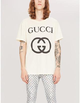 65ac3a90f Gucci Logo-print cotton-jersey T-shirt