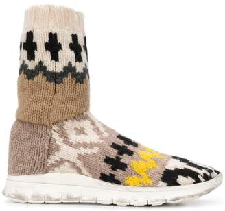 Maison Margiela knitted ankle boots