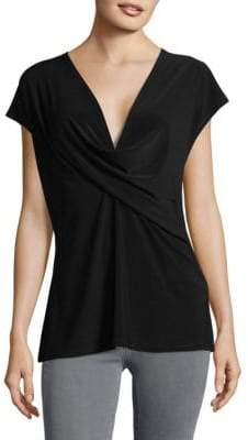 Donna Karan V-Neck Wrap Top