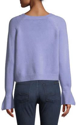 Few Moda Choker-Neck Bell-Cuff Sweater