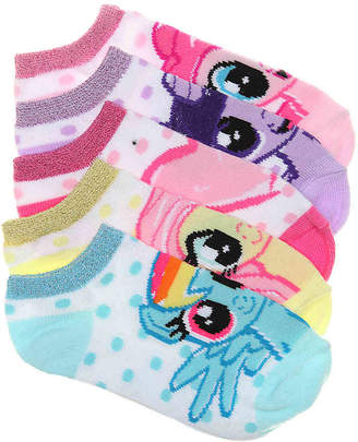 My Little Pony No Show Socks - 5 Pack - Girl's