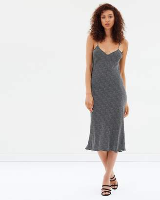 Printed 90s Silk Slip Dress