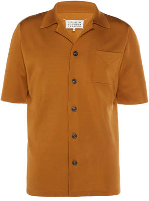 Maison Margiela Camp-Collar Silk-Blend Shirt