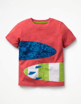 Boden Printed Applique T-shirt