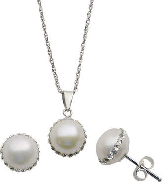 JCPenney FINE JEWELRY Cultured Freshwater Pearl Pendant & Earrings Boxed Set