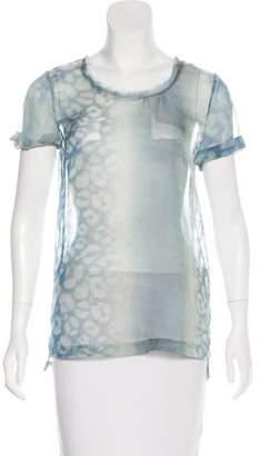 AllSaints Printed Sheer Top