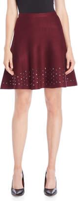 Vila Milano Embellished Hem Knit Skirt